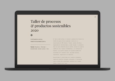 Taller sostenible